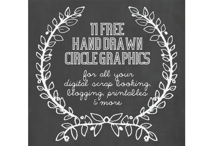 Friday Freebies: logo concept, hand-drawn circle graphics, script web font, blurred backgrounds, & doodle Illustrator brushes | oncecoupled.com