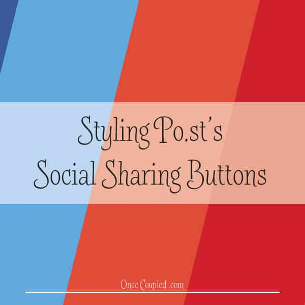 Styling Po.st's social sharing buttons