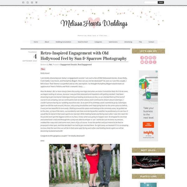 Melissa Hearts Weddings | oncecoupled.com