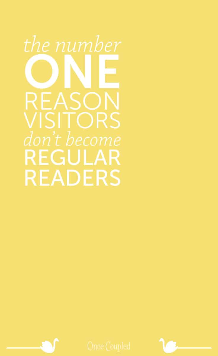 Visitors will only become subscribers when you provide something they need.