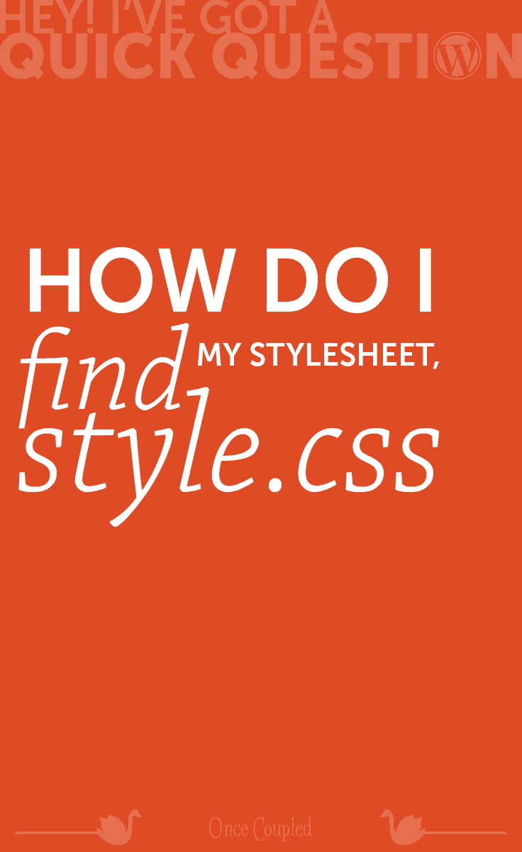how do i find my stylesheet style css p