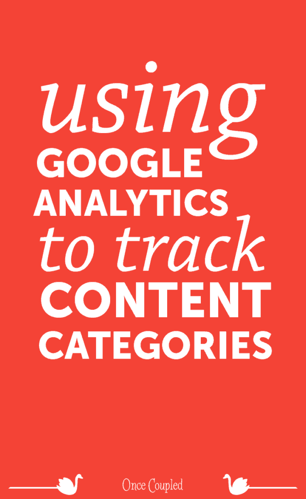 using google analytics to track content categories p