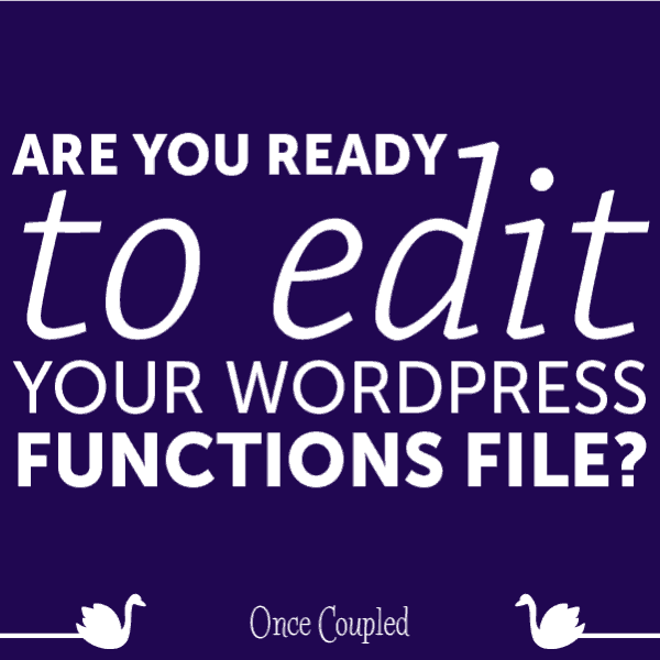 Are You Ready to Edit Your WordPress Functions File?