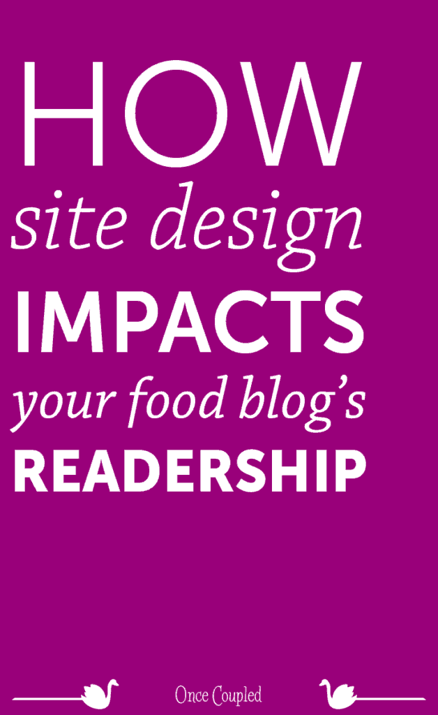 How Site Design Impacts Your Food Blog's Readership