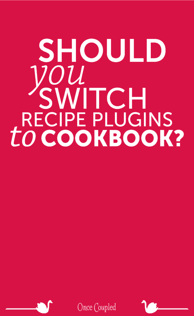 Should I Switch Recipe Plugins to Cookbook?