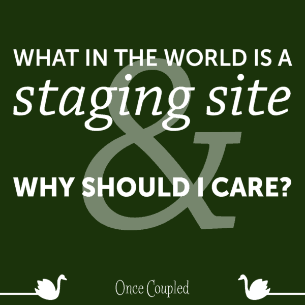 What in the World Is a Staging Site and Why Should I Care?