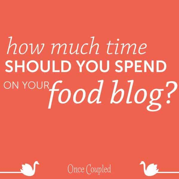 How much time should you spend on each food blog post?